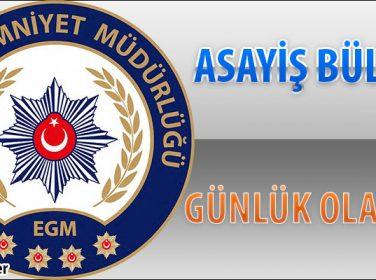 Malatya Asayiş Bülteni Günlük Olaylar 02 – 08 Ekim 2017